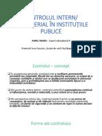 CONTROLUL INTERN - MANAGERIAL ÎN INSTITUȚIILE PUBLICE