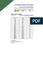 Tabla de Diametros Tuberia Pvc
