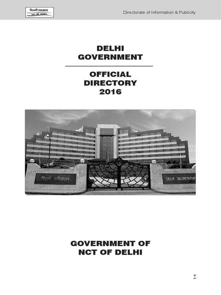 Online Directory 2016 Delhi Govt | Delhi | Government Health