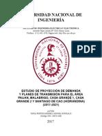 ESTUDIO DE LA PROYECCION DE LA DEMANDA ENERGÉTICA PARA LOS AÑOS 2017-2022 PARA EL RAMAL DE TRUPAL, CASA GRANDE1, CASA GRADNE2, PAIJAN Y TRUPAL.