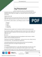 What is Walking Pneumonia