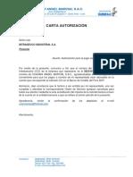 Carta Autorización Para Pago Electronico