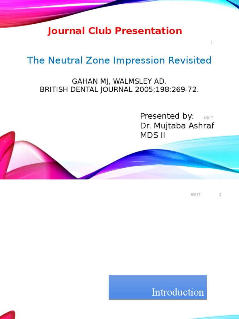 Neutral Zone Technique-JC | Dentures | Tongue