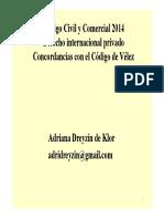 DA Clase El Derecho Internacional Privado en El Codigo Civil y Comercial Dreyzin Ppt
