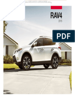Catalogo Especificaciones Detalles Camioneta Rav4 Toyota 2015