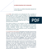 Factores Determinantes de La Demanda y Oferta