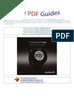 Manual Do Usuário Garmin Forerunner 610 p