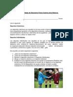 Guía de Aprendizaje de Educación Física Cuartos Años Básicos