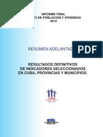 Cuba Resumen Adelantado Censo 2012