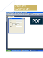 Ejercicios en Windows Forms