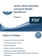 Ch 07 - Stocks, Stock Valuation, Etc