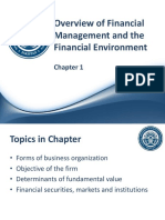Ch 01 - Overview of Financial Management and the Financial Environment