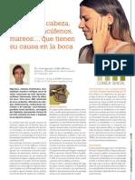 Dolores de Cabeza, Migrañas, Acúfenos, Mareos..., Que Tienen Su Causa en La Boca