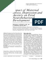 Impact of Maternal Stress