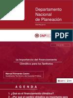 La Importancia Del Financiamiento Climático Para Los Territorios - DNP