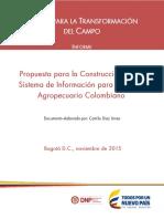 Propuesta de Un Sistema de Información Para El Sector Agropecuario Colombiano ForRojo