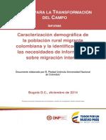 Caracterización Demográfica de La Población Rural