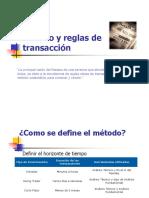 Método y Reglas de Transacción