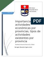 Importancia Económicas Por Provincias