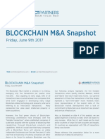 Blockchain M&A Snapshot - June 9th 2017