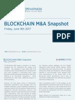 Blockchain M&A Snapshot - June 9th 2017
