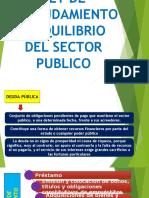 Ley de Endeudamiento y Equilibrio Del Sector Publico