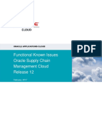 02152017 Oracle Supply Chain Management Cloud Functional Known Issues - Release 12