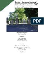 Warrenton Cemetery 2017 Vandalism Assessment Report-Mosko