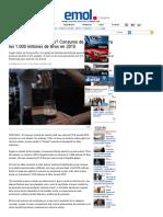 ¿Qué toman los chilenos_ Consumo de alcohol supera los 1.000 millones de litros en 2015 _ Emol