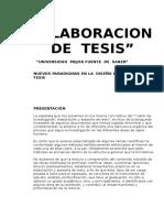 Elaboracion de Tesis