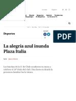 La alegría azul inunda Plaza Italia