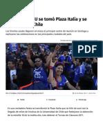 La fiesta de la U se tomó Plaza Italia y se vivió en todo Chile _ Publimetro Chile
