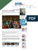 Vicaria de la Esperanza Joven celebra Fiesta de la Resurrección en Plaza Italia _ Emol