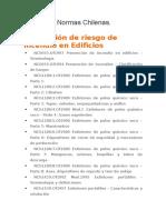 Listado de Normas Chilenas Usadas en Construcción.