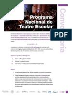 Convocatoria Teatro Escolar 2017-2018