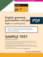 Sample Ks1 EnglishGPS Paper1 Spelling Instructions