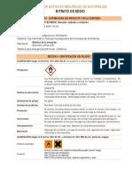 Fds - Nitrato de Sodio