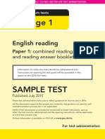 Sample Ks1 Englishreading Paper1 Instructions