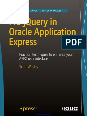 Pro JQuery in Oracle Application Express | J Query | Json