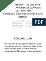 Hubungan Identitas Etis Bank Syariah Dan Kinerja Keuangan
