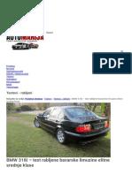 BMW 318i – Test Rabljene Bavarske Limuzine Elitne Srednje Klase