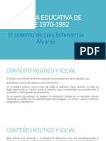 La Politica Educativa de Mexico de 1970-1982