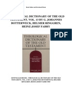 Theological Dictionary of the Old Testament Vol 13 by g Johannes Botterweck Helmer Ringgren Heinz Josef Fabry