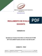 Reglamento Evaluacion Docente v010