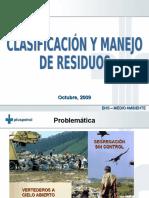 Clasificación y Manejo de RS_Octubre 2009