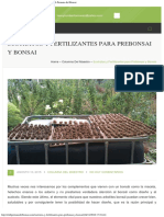 Sustratos y Fertilizantes Para Prebonsai y Bonsai _ Club Peruano Del Bonsai