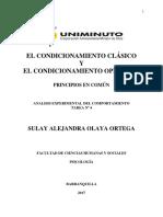 Condicionamiento Clasico y El Condicionamiento Operante Principios en Común
