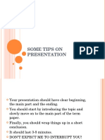 Giving Presentation