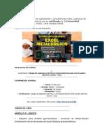 EXCEL METALURGICO 2017 - Temas y Modos de Pagos