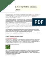 Plante Benefice Pentru Tiroida